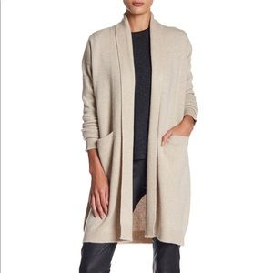 VINCE. 100% cashmere knit long cardigan sweater M